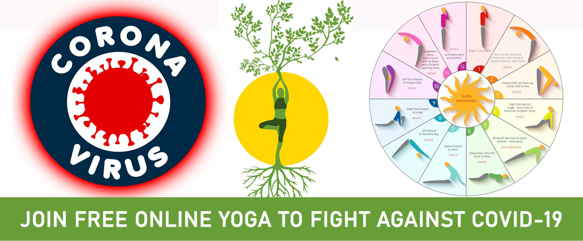 Join Free Online Yoga and Fight against CORONAVIRUS/COVID-19